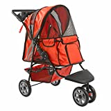 GHP Orange Zephyr 3-Wheel Dog Carrier Jogger Pet Stroller Pet Dog Cat Supplies