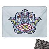 Evil EyeE-Sports Gaming Mouse PadDoodle Hamsa Hand Symbol Traditional All Seeing Eye Positive
