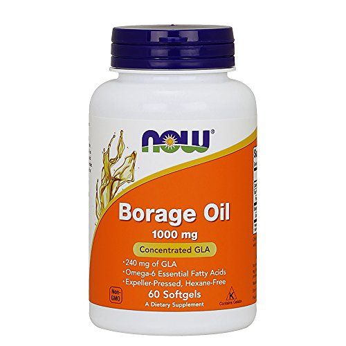 NOW Borage Oil 1000 mg,60 Softgels
