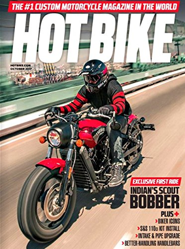 Price comparison product image HOT BIKE Magazine October 2017 INDIAN'S SCOUT BOBBER,  Biker Icons,  S&S 110ct Kit