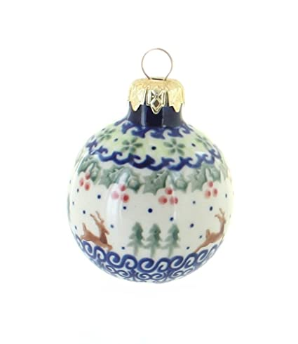 Polish Pottery Reindeer Delight Small Christmas Ball - Amazon.com: Polish Pottery Reindeer Delight Small Christmas Ball