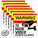 6-Pack Video Surveillance Stickers - 5 inch - Adhesive is on Front & Back. Like signs, the security warning stickers work in your home or business even if you don't have a camera or alarm system.