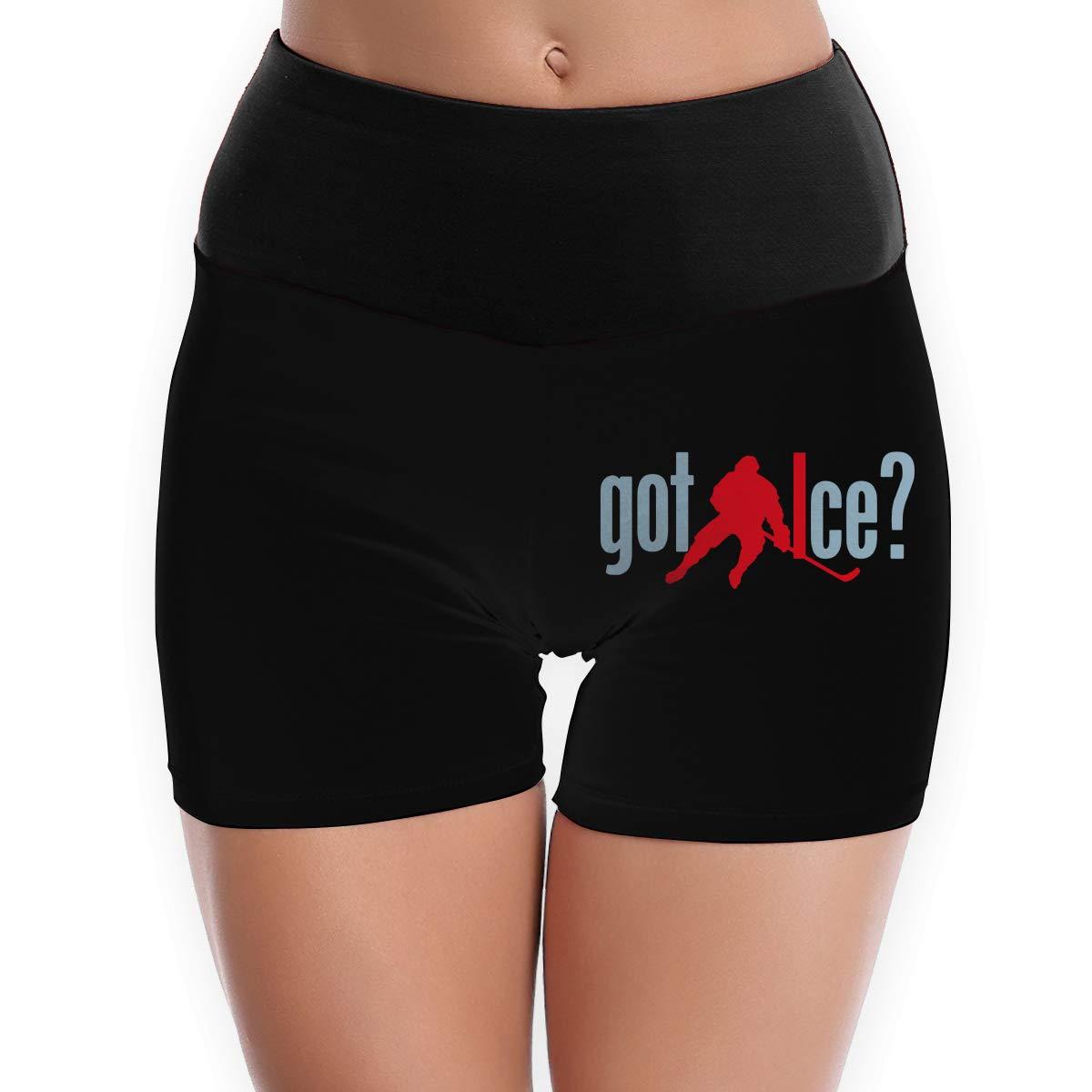 Womens Yoga Shorts Hockey Got Ice Funny Perfect Athletic Shorts
