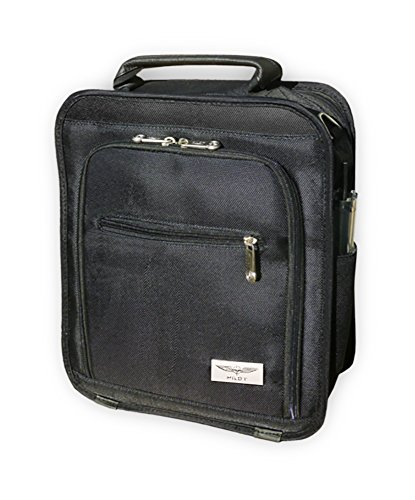 DESIGN 4 PILOTS Flight Bag, Pilot's Electronic Device Bag, Elegant Made Out of Durable Black Nylon, Holds Ipad and Tablet up to 9,5