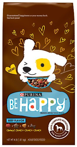 Purina Be Happy Dog Food, Beef Flavor, 4-Pound (Pack of 6), My Pet Supplies