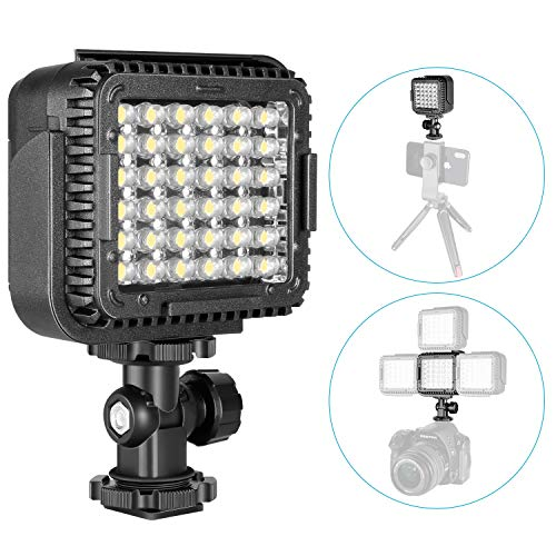 Neewer CN-LUX360 3200K-5600K Dimmable LED Video Light Lamp for Canon Nikon Camera DV Camcorder ()