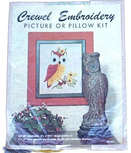Amazon Elsa Williams Needlecraft Owl Crewel Embroidery Kit Kc275