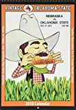 Vintage Oklahoma State Cowboys 2018 College Football Calendar: Football Game-day Program Art: 1900s to 1970s