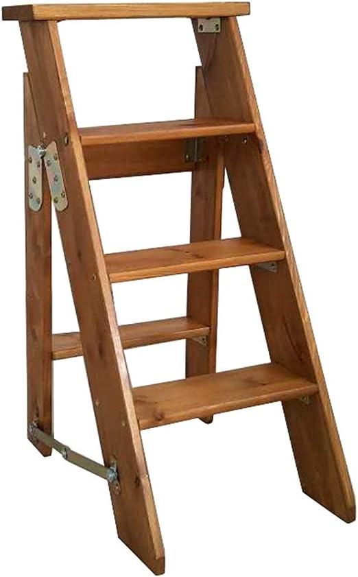 ZENGAI-escalera madera Plegables Paso 4 Pasos De Madera. Escalera ...