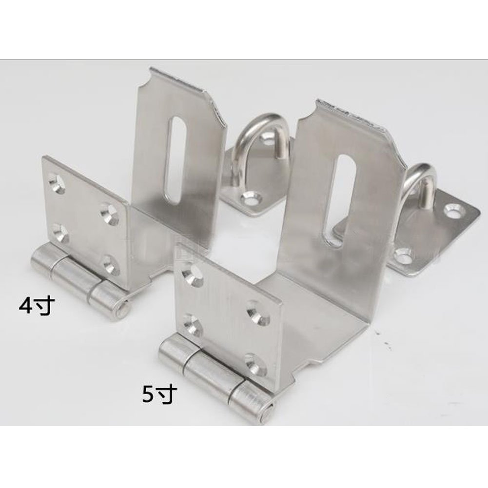 Haidong Thicken 304 Stainless Steel 90 Degree Door Buckle Clasp Anti-theft Wooden Door Hasp Lock (5 inch: L shape size: 55mm75mm) by Haidong (Image #3)