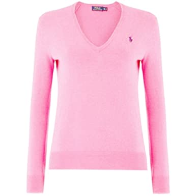 936d854d2b8 Ralph Lauren - Pull - Femme Rose Bonbon L - - Medium  Amazon.fr ...