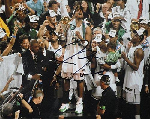 Paul Pierce Hand Signed Autographed 8x10 Photo Boston Celtics Celebration COA
