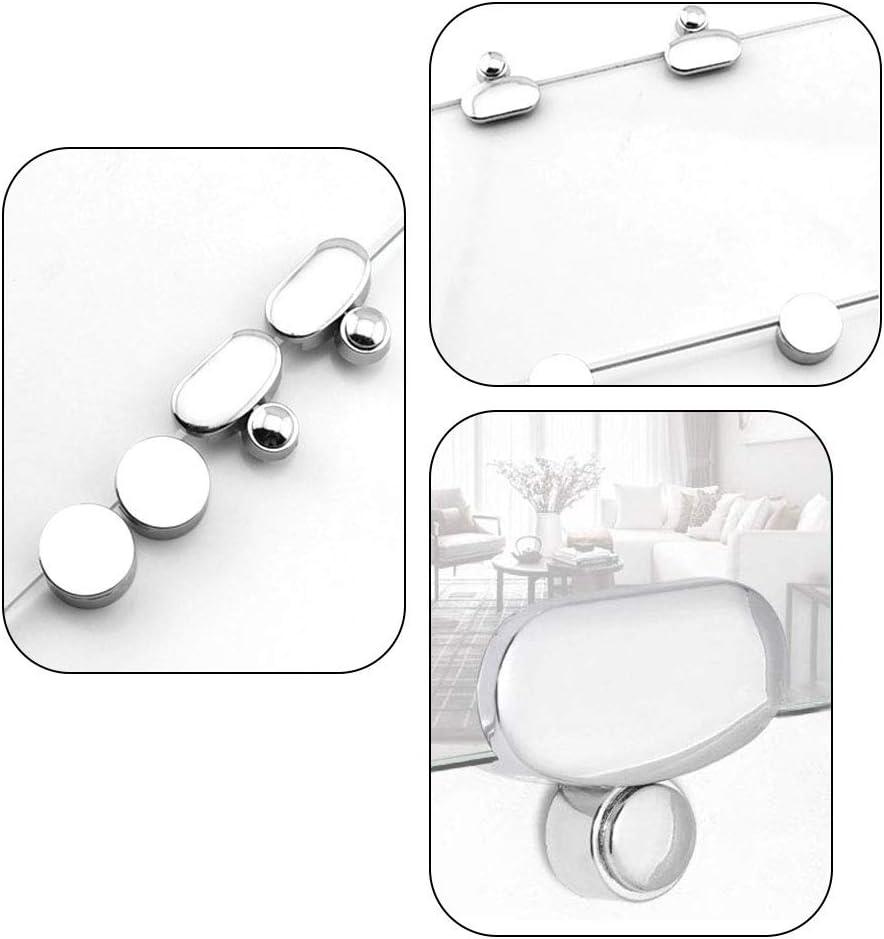 Spiegel und Glas h/ängen Kit Wandhalterung Clips Zinklegierung Spiegel Floating Glass Clip Kitchen-dream 4Pcs Mirror Clips Glass Clamp Badezimmerspiegel Clips