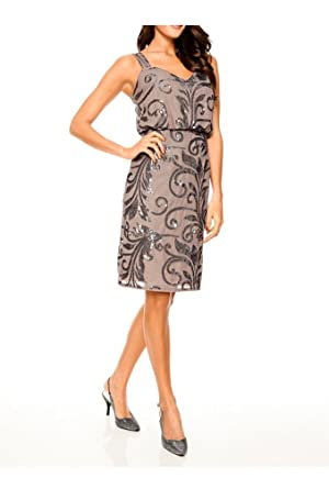 Ashley brooke event kleid taupe