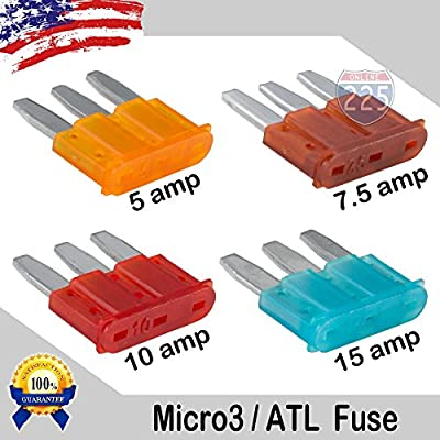 ATL Micro3 Blade Fuse Fuses Car Truck Boat Marine RV