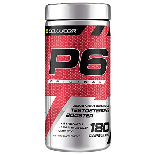 Cellucor P6 Original Testosterone Booster For Men, Build Advanced Anabolic Strength & Lean Muscle, Boost Energy Performance, Increase Virility Support, 180 Capsules