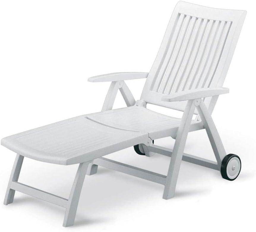 KETTLER Roma Folding Lounger in White Resin