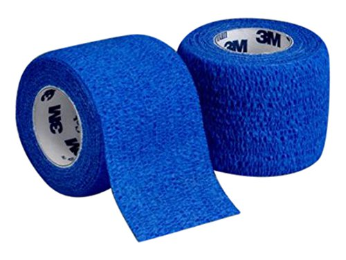 3M Health Care 1582B Self-Adherent Wrap, 2'' x 5 yd. Size, Blue (Pack of 36)