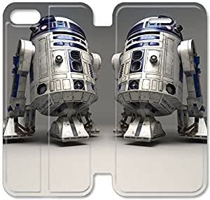 Flip Folio Leather Case for iPhone 5 5s Cell Phone Case R2 D2 Star Wars HPM4616612