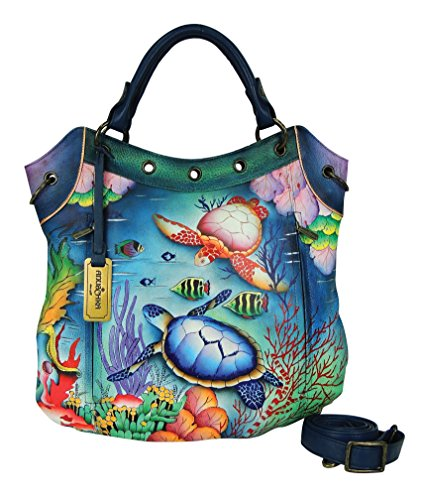 Anuschka Multi Pocket Convertible Travel Tote, Ocean Treasures, One Size