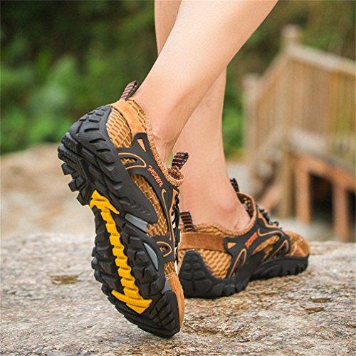 Zapatos Zapatos Marrón para Casuales Montaña Trekking Deportes Deportivas Playa y Transpirable Asfalto Hombres Malla Pescador Flarut de Senderismo Correr Sandalias Zapatilla Verano T0qUy1B