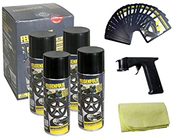 Plasti Dip 400ml Rim Film Matte Black with Spray Gun: Amazon