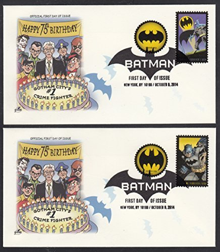 BATMAN 75th Anniversary set of 4 Combo ArtCraft Collectible First Day Covers Stamp Scott 4928-35 - Issue Stamp Cover