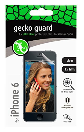"Gecko Gear 4.7"" Clear Screen Guard For Apple iPhone 6s & 6 3 Per Pack Gg700212 GG700212"