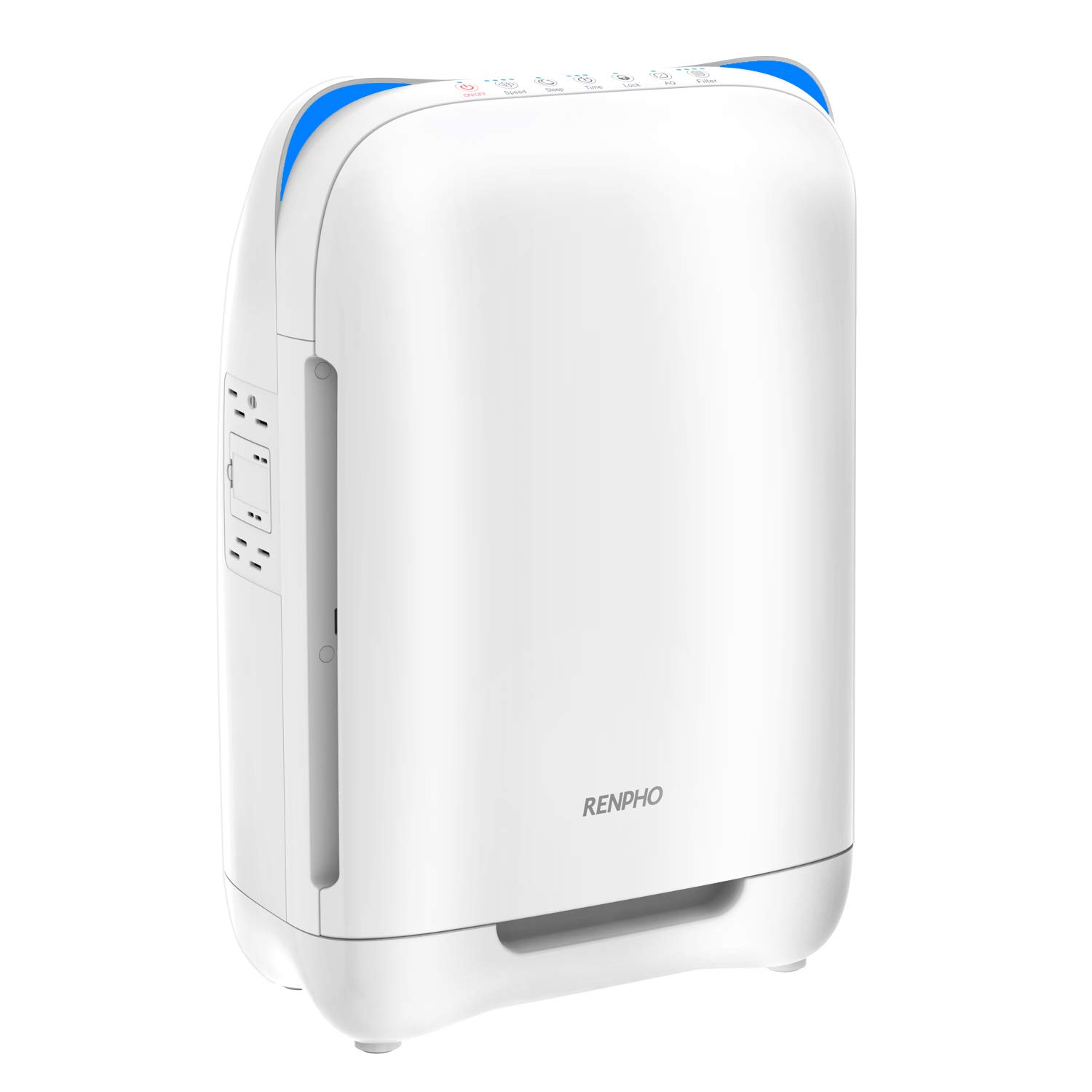 RENPHO Air Purifier for Home Large Room,HEPA Filter Air Purifier for Allergies and Pets,Air Cleaners for Bedroom, Traps Allergens, Smoke, Odors, Mold, Dust, Germs, Pet Dander
