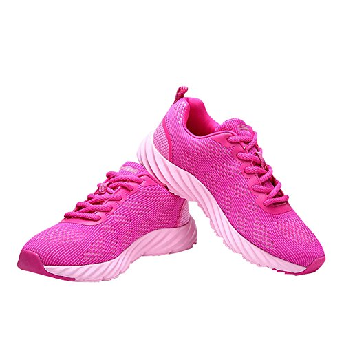 Fashion Unisex Couple Shoes Breathable Red Sneakers Casual Women's Mesh Men's Sports Athletic fereshte FqXpA