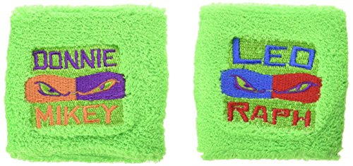 2 Count Teenage Mutant Ninja Turtles Sweat Bands, Multicolored