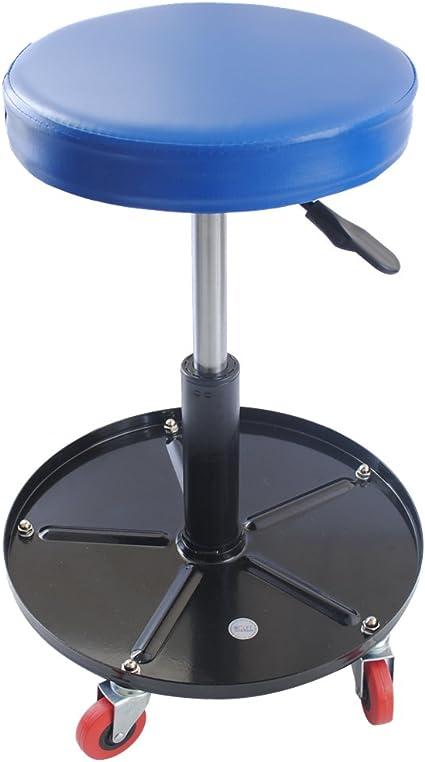 Cclife Höhenverstellbar Werkstattstuhl Werkstatthocker Werkstattsitz Mit 5 Rollen ø38 5 Cm 1 Ablage 390 520mm Baumarkt
