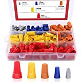 Hilitchi 175Pcs Electrical Wire Connection Screw Twist Connector Cap w/Spring Insert Assortment Set