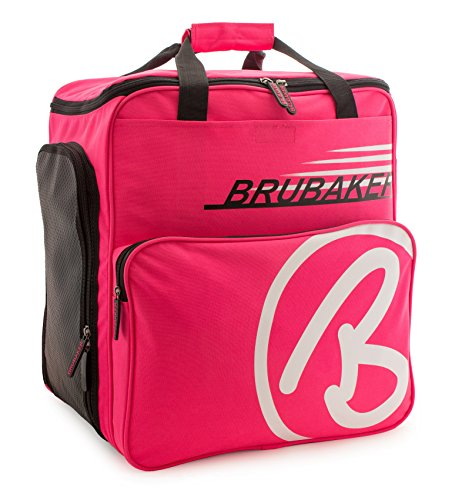 BRUBAKER Winter Sports Boot Bag Super Champion - Limited Edition - Backpack Dark Pink White by BRUBAKER