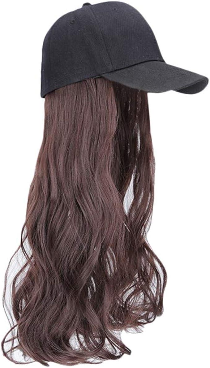 Gorra de béisbol con extensión de Cabello sintético, Extensiones ...