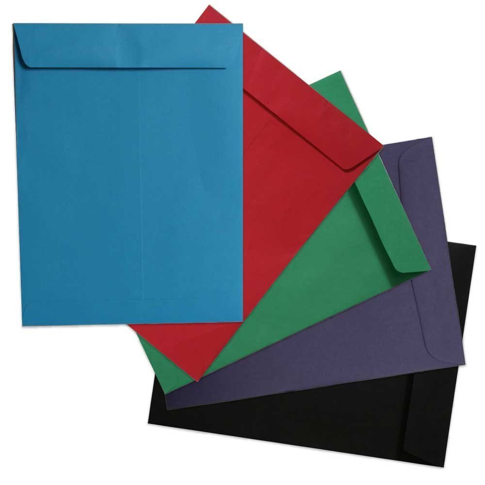 JAM PAPER 10 x 13 Open End Catalog Colored Envelopes - Assorted Colors - 50/Pack JAM Paper & Envelope