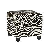 Southern Enterprises Zebra Faux Leather Storage Ottoman