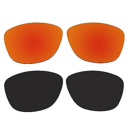Amazon.com: anteojos de sol polarizadas Fire Rojo y Negro ...