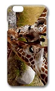 MOKSHOP Adorable Giraffe Parental Love Hard Case Protective Shell Cell Phone Cover For Apple Iphone 6 Plus (5.5 Inch) - PC 3D