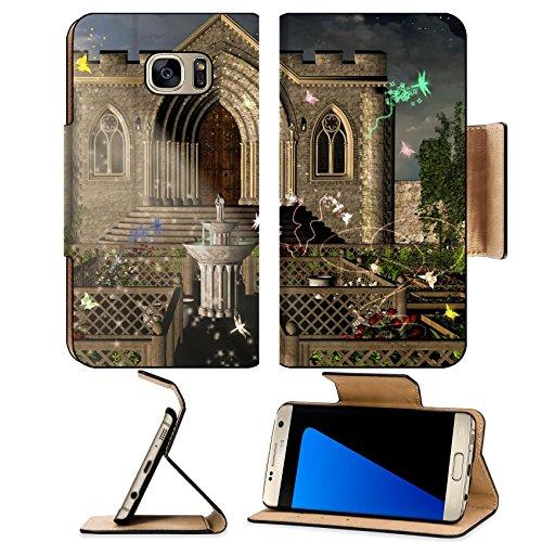 Liili Premium Samsung Galaxy S7 Edge Flip Pu Leather Wallet Case IMAGE (Stairway Plant Stand)
