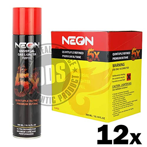 12 Pack Neon 5x Butane - 300mL 12x[Y1BU010104] ()