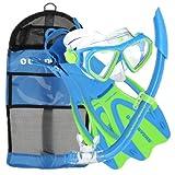 U.S. Divers Dorado JR Mask Fins Snorkel Set, Fun Blue, Large by U.S. Divers