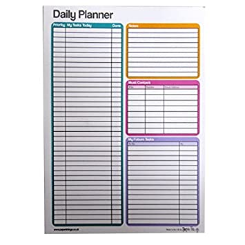 A5 Daily / Task Planner Notepad - 50 Sheets Per Pad - Size 210mm x ...