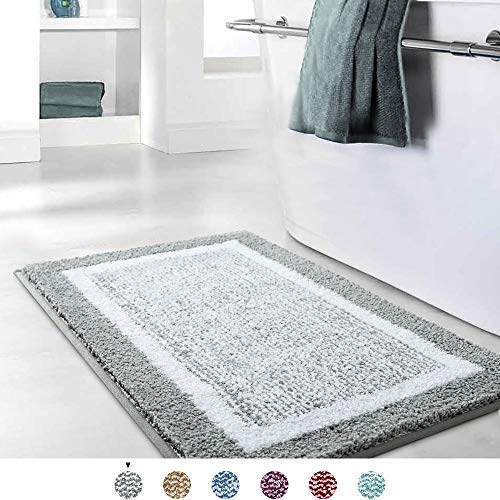 Color&Geometry Bathroom Rug Mat, Ultra Soft and Water Absorbent Bath Rug, Bath Carpet, Machine Wash/Dry, for Tub, Shower, and Bath Room