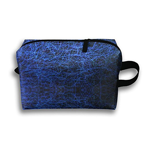 Blue Light Travel Portable Make-up Receive Bag Hand Cosmetic Bag With Hanging