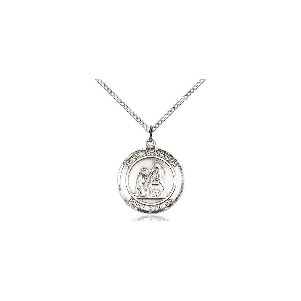 DiamondJewelryNY Sterling Silver St Catherine of Siena Pendant