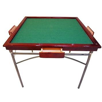 Allibuy Mesa Plegable portátil de Mahjong para el hogar De Madera ...