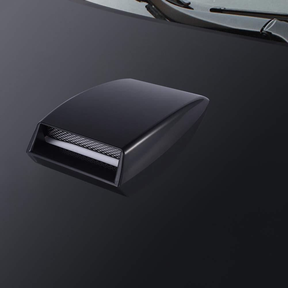 Black Yosoo Plastic Universal Car Decorative Air Flow Intake Scoop Turbo Bonnet SUV Vent Cover