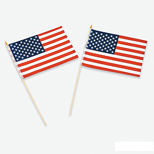 Polyester American Flag Dozen Bulk