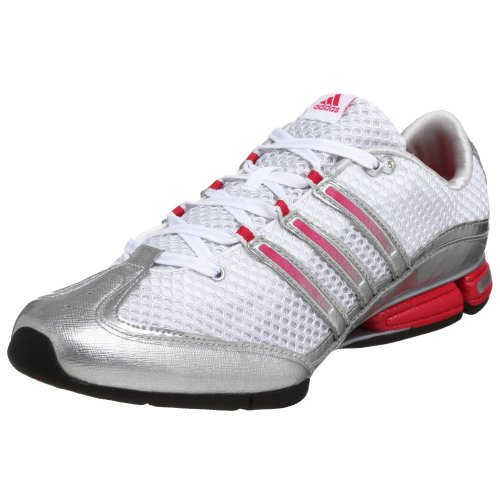 adidas Women's Jhana Cross-Training Shoe,White/Silver/Pink,10 M
